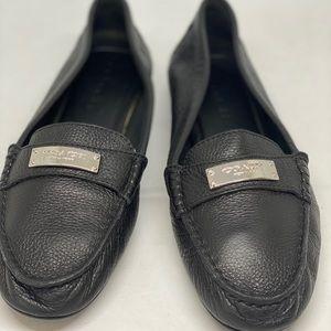 Coach Black Fredrica Loafer Flats Size 7B